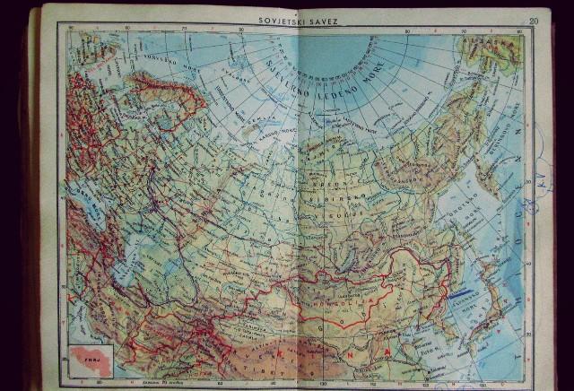 Slijepa Karta Svijeta Karta